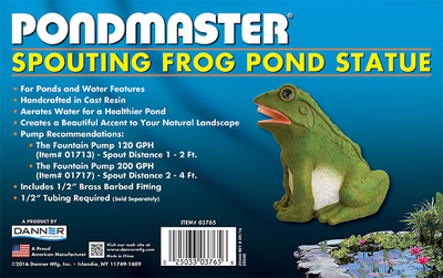 Image Spouting Frog Statue